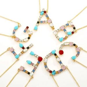 Jewelry - 🌞[2 for $20]🌞 Gemstone Letter Necklace